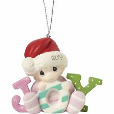 Precious Moments Baby's First Christmas 2019 Dated Porcelain Girl Ornament