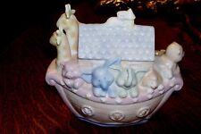 Vintage Russ Noah'S Menagerie Porcelain Nightlight Child'S Animal Ark
