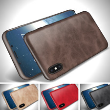 Luxury Ultra Thin Leather Back Skin Case Cover For Apple iPhone X 8 7 6 6S Plus