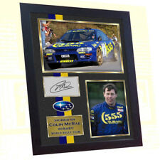 *** New Framed Colin McRae Subaru World Rally Team signed autograph photo print