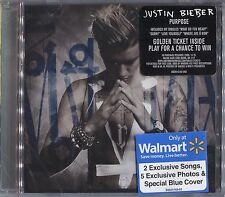 +7 BONUS TRACKS-> JUSTIN BIEBER Purpose BLUE COVER Deluxe CD Hit the Ground MOST