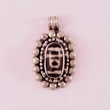 Vintage Tibetan Dotted Edge 1-eye Agate dZi Bead Amulet Pendant -Powerful energy