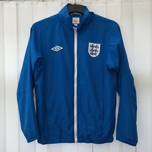 Umbro ENGLAND Mens Football Training Zip Jacket Top Size SMALL, Blue