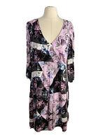 Blue Illusion Women's Plus Size 2L Floral A-Line Dress