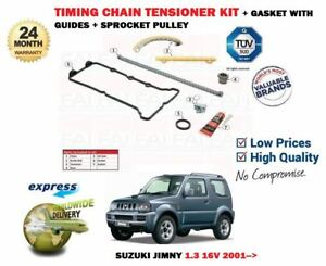 FOR SUZUKI JIMNY 1.3 16V SN413 2001->NEW TIMING CHAIN TENSIONER + GUIDES SET