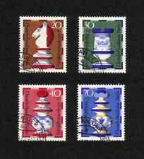 West Berlin 1972 Chessmen complete set of 4 values (SG B424-B427) v.f.u.