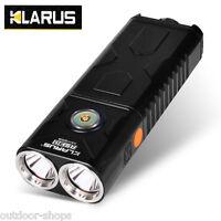 KLARUS RS30 XM-L2 U2 LED 2400Lumens Dual Head Rechargeable Waterproof Flashlight