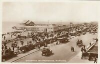 Postcard - Worthing - Bandstand and Promenade