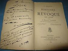 O. HERAULT HISTOIRE D'UN REVOQUE 1890 POITIERS BOULANGISME CARNOT ENVOI Signé
