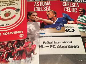 Friendly/Testimonial Match Day Football Programmes *Choose from list*