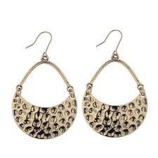 Women Vintage Bohemian Boho Style Simple Gold Semi-circular Drop Dangle Earrings