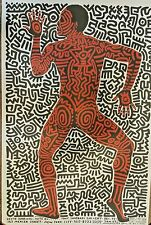 Keith Haring Poster Dancing man retails for $$$ LIMITED NUMBER GET IT NOW