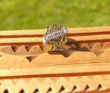 "Chorus Harp 7/8"" Gold Tone Metal Enamel Hs Letterman's Jacket Lapel Pin Pinback"