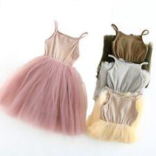 Chaleco de malla de algodón de punto Vestido Tutú De Ballet Para Niñas Vestido Niñas Vestido de bola de eslinga