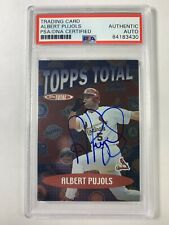 Albert Pujols autograph PSA/DNA 2002 Topps Total Baseball Card Cardinals Angels