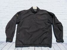 Mens FOOTJOY Black Zip Pullover Wind Water Golf Sweater Shirt Jacket Medium
