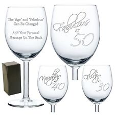 Engraved Wine Glass Birthday Gift 18th 21st 30th 40th 50th 60th