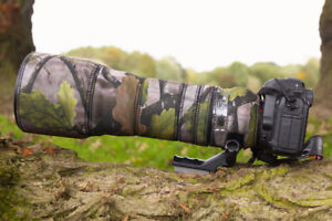 Tamron 150 600mm Di VC G1 Neoprene lens protection camouflage cover Forest Camo