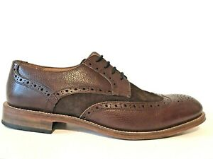 Charles Tyrwhitt Wingtip Oxford Shoes Brown Suede Leather Men's Size US 10 UK 9
