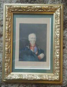 "George Baxter Print - ""The Late Duke of Wellington"", c 1850's - Framed & Glazed"