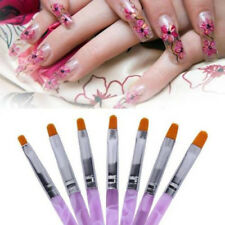 7 PC Nail Art Acrylic Pen Brush Builder Tool UV Gel Polish Drawing Pen Painting