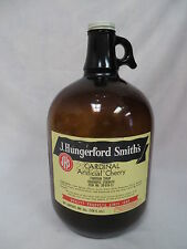 1950'S J HUNGERFORD SMITH CARDINAL CHERRY SODA FOUNTAIN SYRUP JUG BOTTLE W/LID