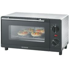 Severin TO 2052 Silber-Schwarz Toast-Ofen 9 l Garraum Timer 800 Watt