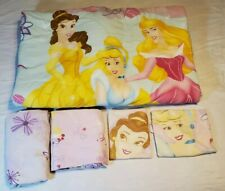 Disney Princess Comforter/Sheet Set Full Size Reversible 5 Piece Set