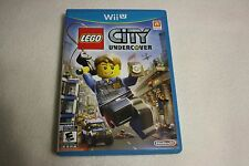 LEGO City Undercover (Nintendo Wii U, 2013) *First print, like new*