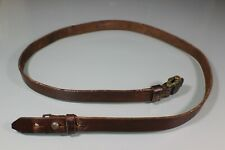 Post WW2 German K98 Leather Rifle Sling Markings Good Condition Aged Used S09