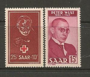 Germany SAAR 1950 Red Cross & Peter Wust Lovely Mint Never Hinged