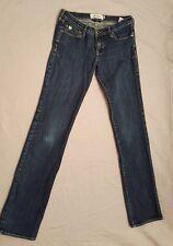 Girls Abercrombie Blue Jeans Cute Stretch Straight Denim size 14