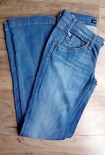 WOMENS JEANS SIZE 27 LADIES MISS SIXTY DENIM BLUE FLARE WITH BUCKLES