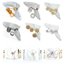 Elegant Napkin Rings Set For Dinner Table Parties 4 Set Pc - Choose your Style