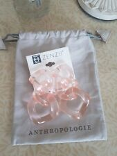 Anthropologie palest rose pink lucite chain link drop earrings RRP £48