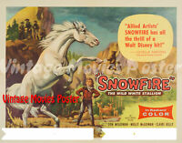 Snowfire 1958 Repro Reproduction Print USA Western Poster