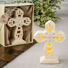 10 Glowing Cross Statue Christening Baptism Baby Shower Religious Party Favors