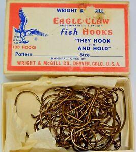 Vintage Box Wright & McGill Eagle Claw Size 3/0 Fishing Hooks (49ea)