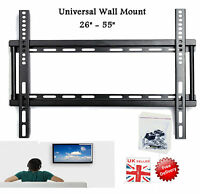 "Universal TV Mount Slim Wall Bracket fits 3D Plasma LCD LED VESA 26"" 32"" 42"" 55"""