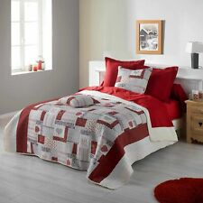 MARGAU Red Bed Cover 220 x 240 cm