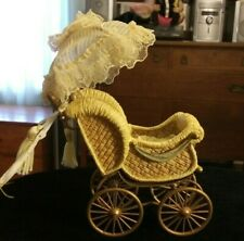 1999 Louis Nicole Fancy Baby Carriage Buggy for Small Doll Original Tag Registry