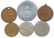 Lot mit 6 Münzen/Medaillen alle Welt mit Polen,Peru,GB,Canada - Medaille u.s.w.