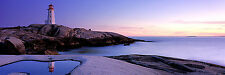 """Dermot O'Kane """"Peggy's Cove"""" 60 x 20 Stretched Canvas Print (Peter Lik style)"""
