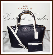 NWT $360 Coach Leather Colorblock Mini Kelsey Bag & Card Case Set MIDNIGHT BLUE