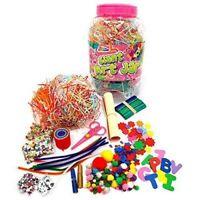 Grafix Giant Art Jar Pink Craft Kids Childrens Art Crafts Set Pom Poms Beads
