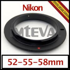 ANILLO ADAPTADOR INVERSOR MACRO 52mm 55mm 58mm para Nikon