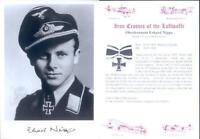 SPGL15 German Luftwaffe photo signed NIPPA KC JG2 fighter bomber