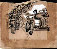 JACK KIRBY 1955 STUNTMAN THRILLS OF TOMORROW #20 ORIGINAL COMIC COVER ART RARE