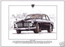 VOLVO 123 GT Fine Art Print - A4 size picture Amazon 123GT Swedish Saloon Car