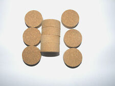 """10 CORK RINGS RUBBERIZED BROWN 1 1/4"""" X 1/2""""  SOLID NEW!!"""